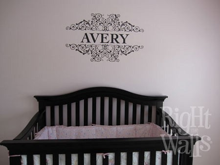 Name Scrolls Baby Nursery Personalized Vinyl Wall Decal