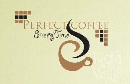 Perfect Coffee Kitchen Vinyl Wall Decal