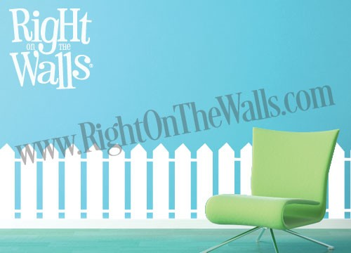 White Picket Fence Wall Decal