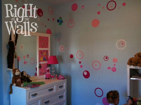 Polka Dot Wall Decal Vinyl Wall Art