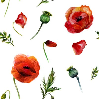 "Random Poppy, Craft Vinyl 12"" x 12"" Sheet"