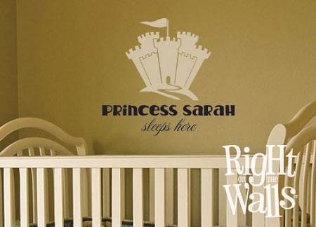 Princess Castle Wall Decal Kids Vinyl Wall Art