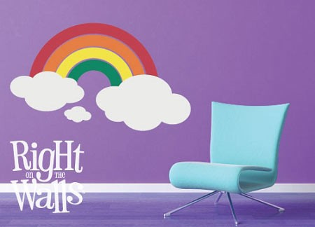 Rainbow Clouds Wall Decal Vinyl Wall Art