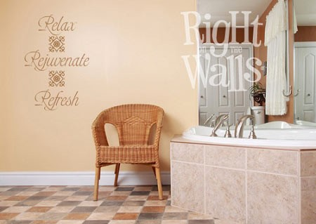 Relax • Rejuvenate • Refresh Bathroom Vinyl Wall Decal