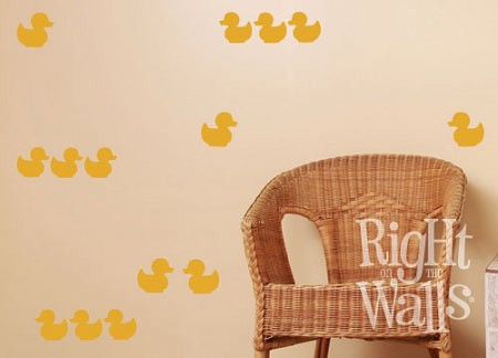Rubber Ducky Shapes Bathroom Wall Decal