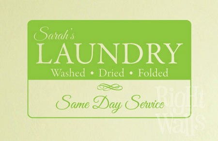 Same Day Service Laundry Wall Decal