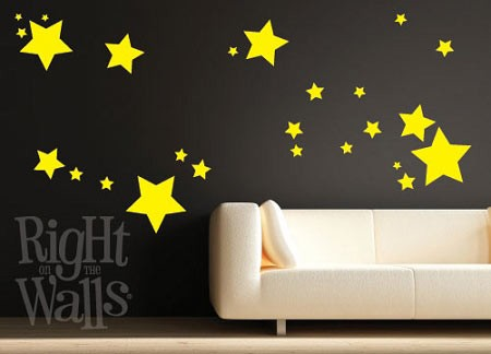 Scatter Stars Wall Decal