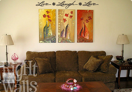 Live Laugh Love Wall Quote, Wall Decal, Family Vinyl Wall Art, Wall Decal
