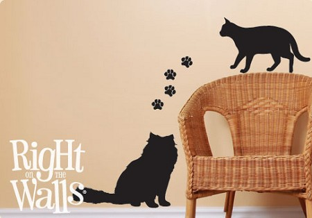 Kitten Shapes Animal Wall Decal