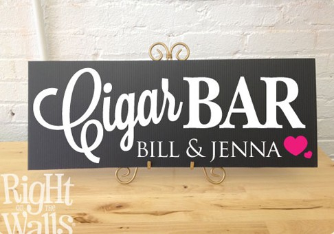 Cigar Bar Wedding Sign, Personalized Wedding Sign, Cigar Table Sign