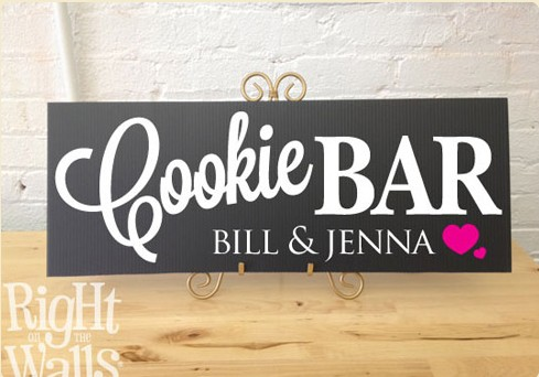Cookie Bar Wedding Sign, Personalized Wedding Sign, Table Sign
