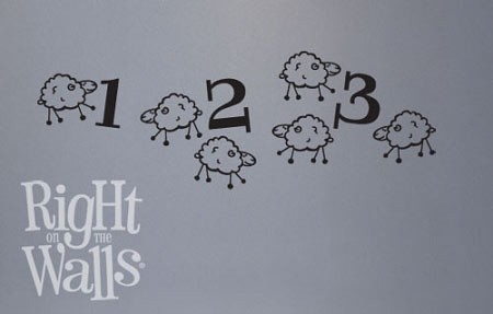 Counting Sheep Nursery Vinyl Wall Decal