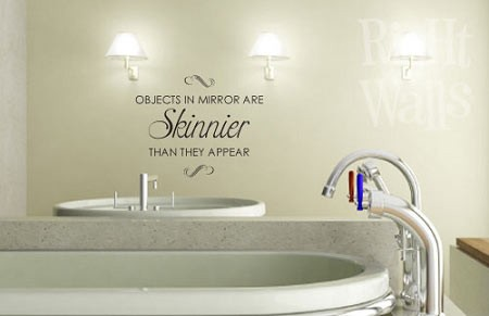 Objects In Mirror Bathroom Wall Decals Vinyl Art Stickers