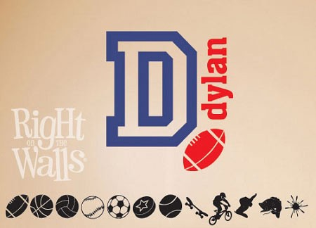 Sports Wall Decal Personalized Vinyl Wall Art