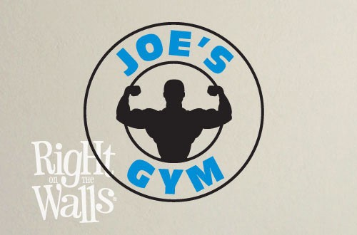 Strong Man Fitness Wall Decal, Gym Vinyl Wall Art