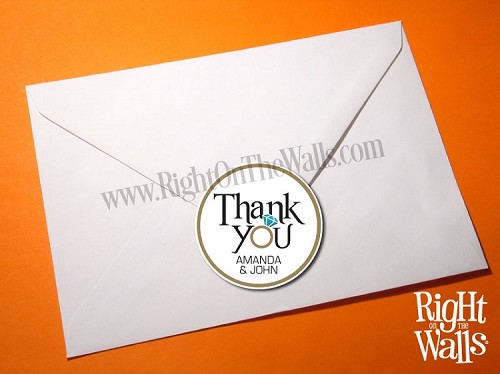 Thank You Custom Wedding Stickers Labels For Favors