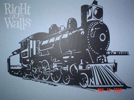 Train Engine Wall Decal, Kids Vinyl Wall Art