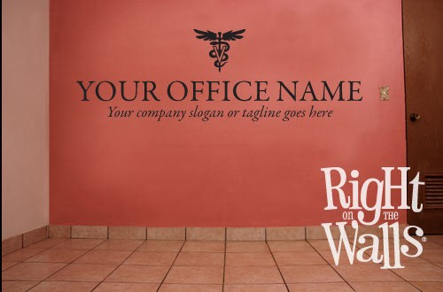 Veterinarian Wall Decal Business Name with Tagline Wall Sticker