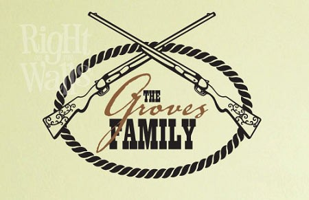 Western Family Wall Decal, Personalized Family Custom Vinyl Wall Art