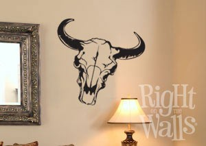 Western Skull Wall Decal, Vinyl Wall Art