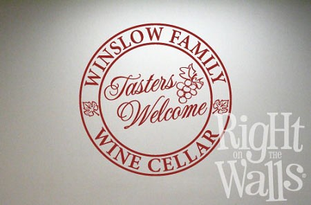 Family Name Wine Tasters Welcome Wall Decal